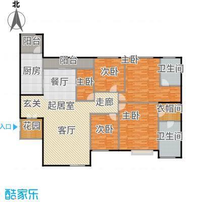 莲湖四季豪园199.09㎡户型5室2卫1厨