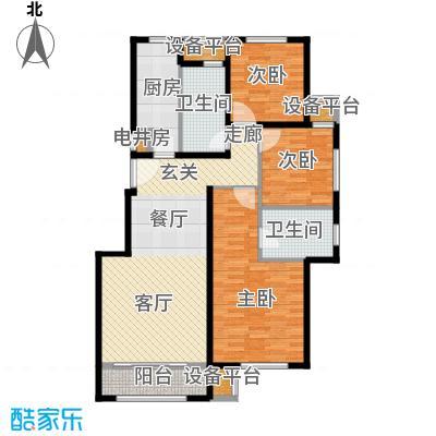 北京苏活110.84㎡北京苏活户型图1、2、3号楼E户型三室两厅两卫(1/10张)户型3室2厅2卫