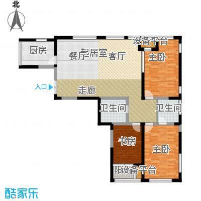 艺术家公寓160.00㎡AB座160平米三室两厅一卫户型3室2厅1卫