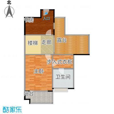 保利生态城74.27㎡184栋3复式上层户型2室1卫
