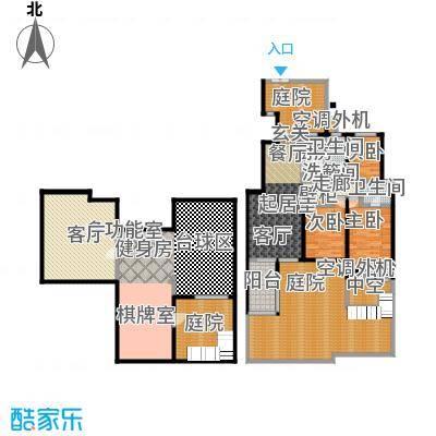 国信观湖湾156.00㎡花园洋房L1-1户型3室2厅2卫