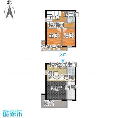 东润财智公馆104.66㎡两室两厅两卫104.66平米户型2室2厅2卫