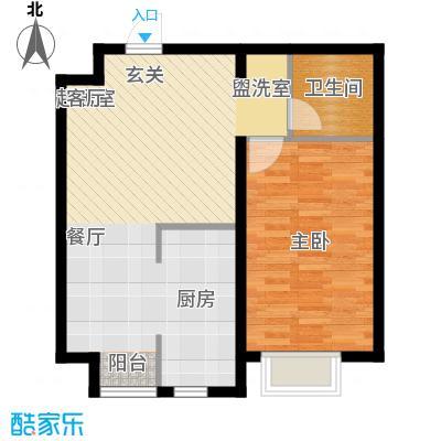 西城阳光64.10㎡C户型1室1厅1卫