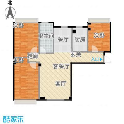 海天富地94.00㎡C户型 三室二厅94平米户型图户型3室2厅1卫