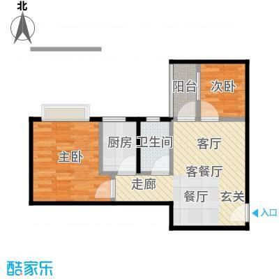 益兆明珠09户型2室1厅1卫1厨