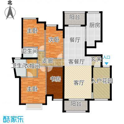 华建半岛豪庭户型4室1厅2卫1厨