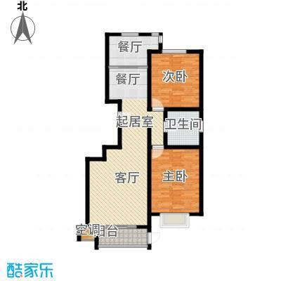 巨华世纪城102.00㎡2区 D户型2室2厅1卫