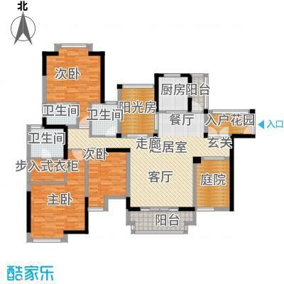 地标广场二期162.00㎡5、7号楼01\\02单位户型3室3卫1厨