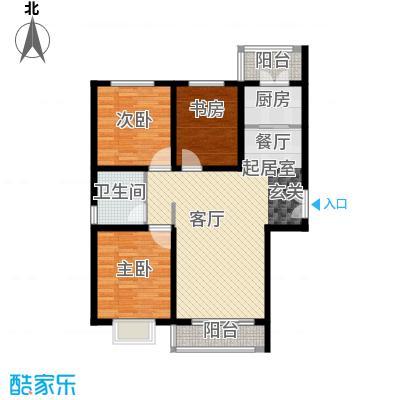 世纪龙庭二期119.00㎡M户型3室2厅1卫