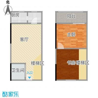 广天国际公寓LOFT公寓C户型43.83㎡户型