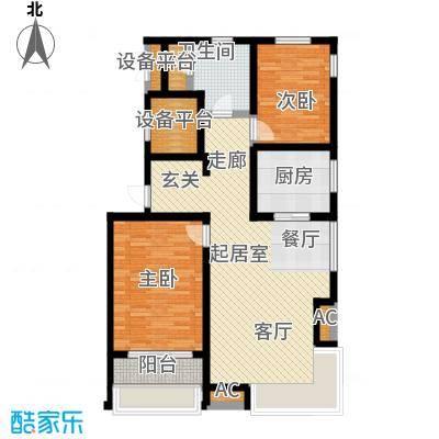 颐和星海110.16㎡A户型3/4-1# 二室二厅一卫户型2室2厅1卫