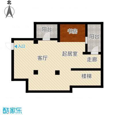 红鼎湾花园68.00㎡I户型地下层户型QQ