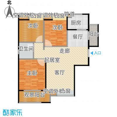 鸿基新城98.20㎡鸿基新城户型图24B-23室1厅1卫(9/29张)户型3室1厅1卫