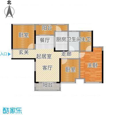 中洲中央公园89.00㎡F2型户型3室2厅2卫