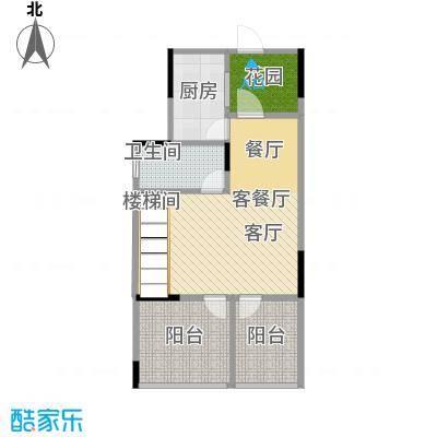 武汉锦绣香江D1层原始户型1厅1卫1厨