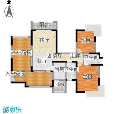 新世纪星城三期113.15㎡D3双数层户型2室1厅2卫1厨