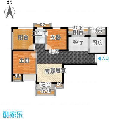 比克橄榄湾108.00㎡C1户型 3室2厅1卫户型3室2厅1卫