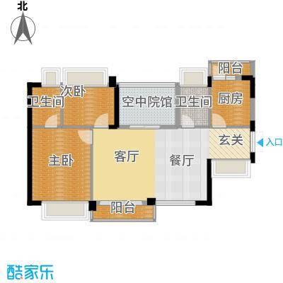 天骄峰景户型2室1厅2卫1厨