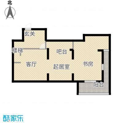 红鼎湾花园79.00㎡H户型地下层户型QQ