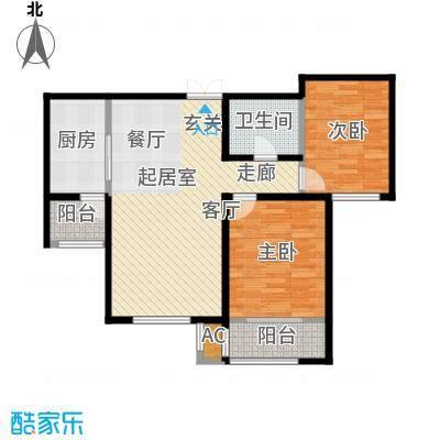 松江城玫瑰郡2、4号楼_t3 A B C户型-90-120户型2室2厅2卫