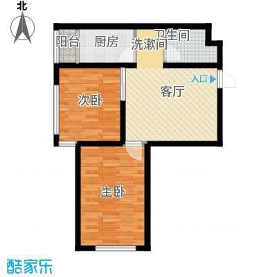 北方尚品户型图C两室一厅一卫 约71.86平方米(4/9张)