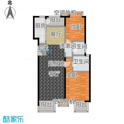 玺萌公馆117.00㎡玺萌公馆户型图A01两室两厅两卫二至五层(3/18张)户型10室