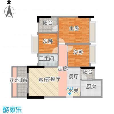 景湖时代城户型3室1厅1卫1厨