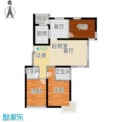 中国铁建绿港132.17㎡E户型10室