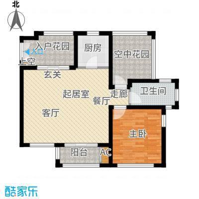 红鼎湾花园79.00㎡L户型1室2厅1卫QQ