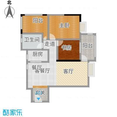 盛和新都会1栋标准层03户型2室1厅1卫1厨