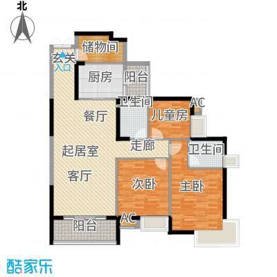湖滨壹号127.00㎡127-128平米户型3室2厅2卫QQ