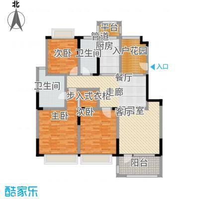 绿地华尔道名邸142.00㎡绿地华尔道名邸户型图c5户型142平方米(1/3张)户型3室2厅2卫