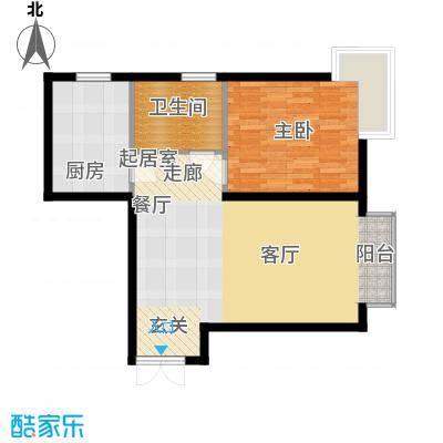 巨华朗域71.00㎡巨华朗域71.00㎡1室2厅1卫户型1室2厅1卫