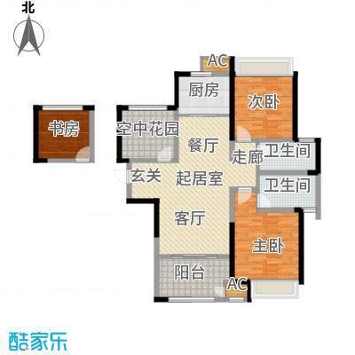 新城香溢俊园122.00㎡9122C户型2室2厅2卫QQ