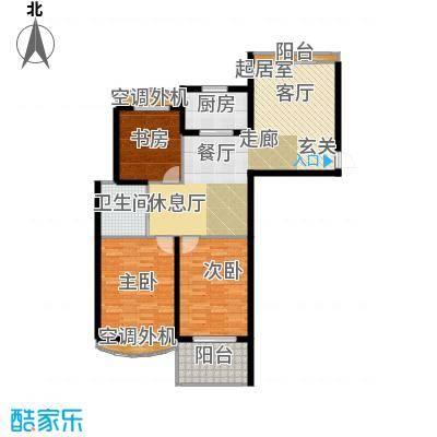 银河湾明苑113.88㎡三房二厅一卫-113.88平方米-61套户型