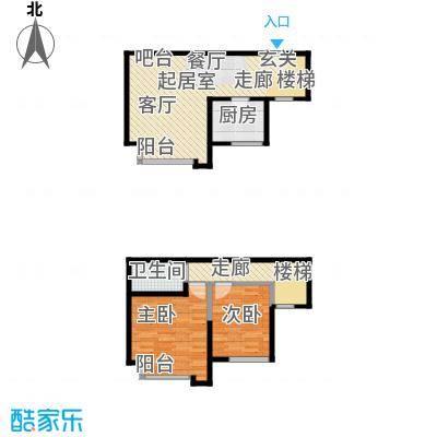 名品建筑89.68㎡名品建筑89.68㎡2室2厅1卫户型2室2厅1卫