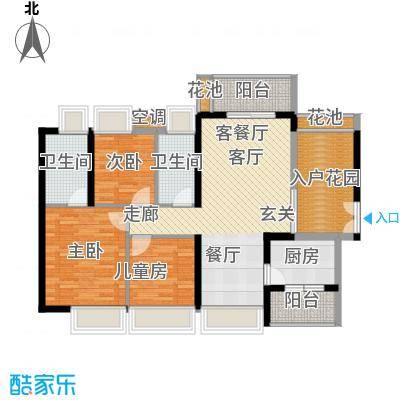 中熙弥珍道尊华3+1栋01户型3室1厅2卫1厨