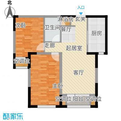 保利西山林语84.00㎡G2户型 2室2厅1卫户型2室2厅1卫