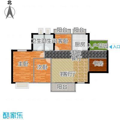 丹梓龙庭A/D栋偶数层户型4室1厅2卫1厨
