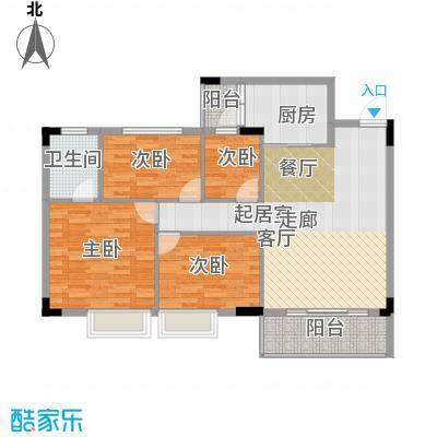 友田碧云轩104.00㎡1~5栋8层02户型3室2厅2卫