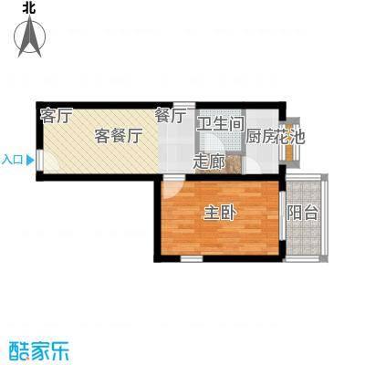 阳光雅筑户型1室1厅1卫1厨