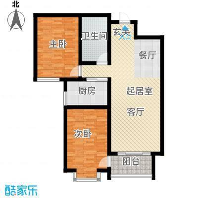 巨华世纪城2区 B户型2室2厅1卫