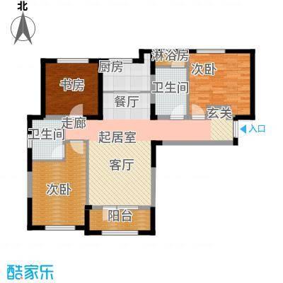 保利西山林语106.00㎡G1户型 3室2厅2卫户型3室2厅2卫