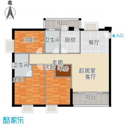 穗和城121.83㎡C栋04单元户型4室2卫1厨