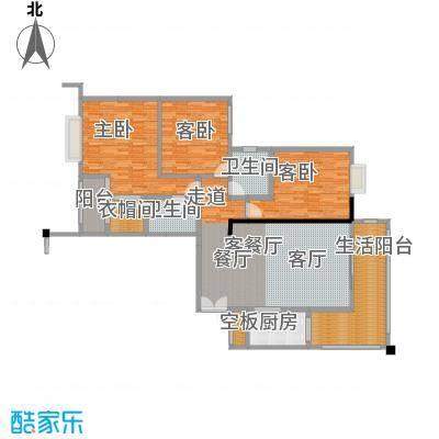 盛和新都会3栋标准层02户型3室1厅2卫1厨