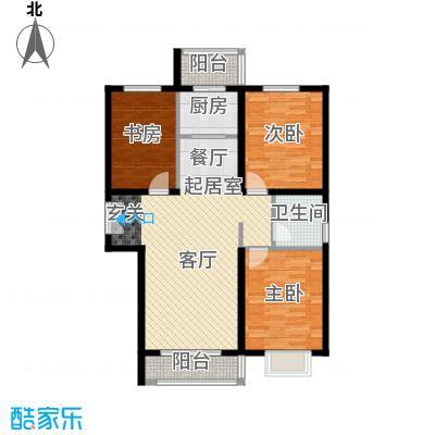 世纪龙庭二期121.00㎡N户型3室2厅1卫
