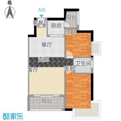 新彼岸65.05㎡户型2室1厅1卫1厨