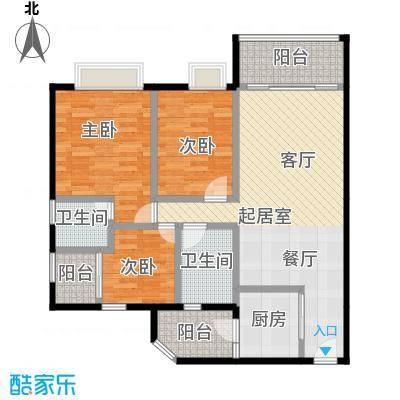 利海假日轩98.00㎡05单元户型3室2卫1厨