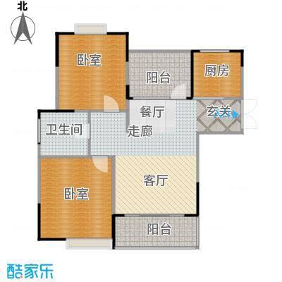 惠泽云锦城89.00㎡二期A1户型2室2厅1卫