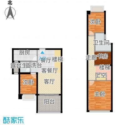 光明大第88.00㎡1-2栋C型4房2厅2卫户型4室2厅2卫
